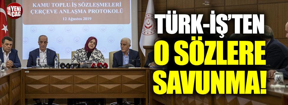 Türk-İş'ten, Ergün Atalay savunması