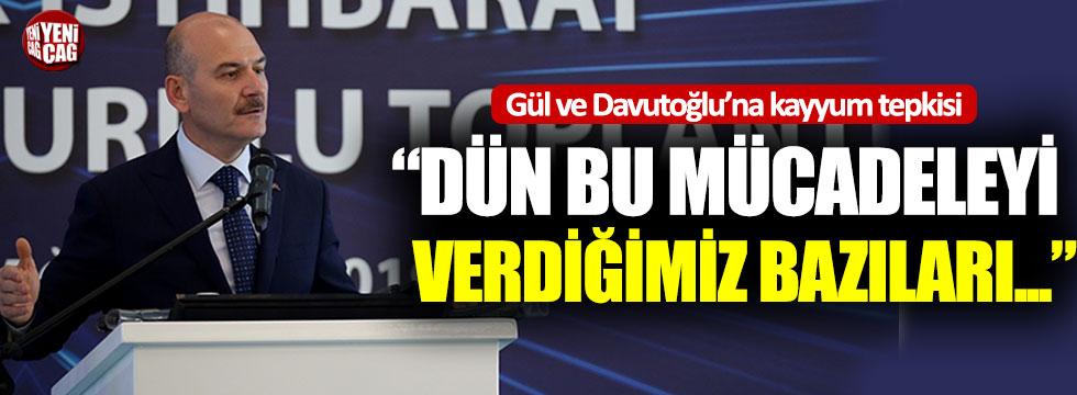 Bakan Soylu'dan Gül ve Davutoğlu'na tepki!