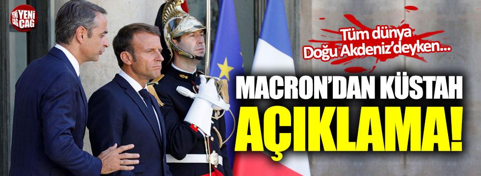 Macron'dan küstah Türkiye çıkışı