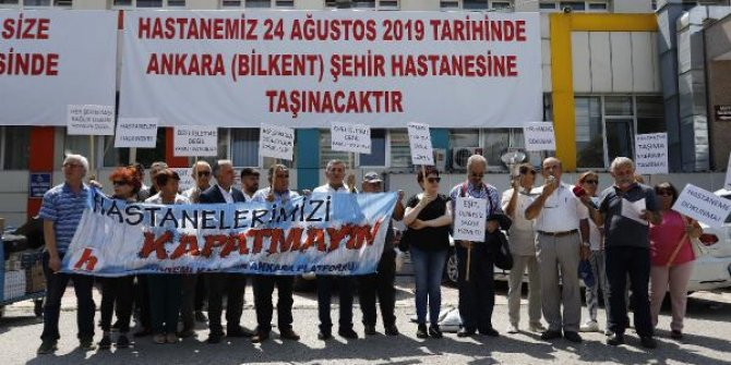 Ankara'da şehir hastanesi protestosu