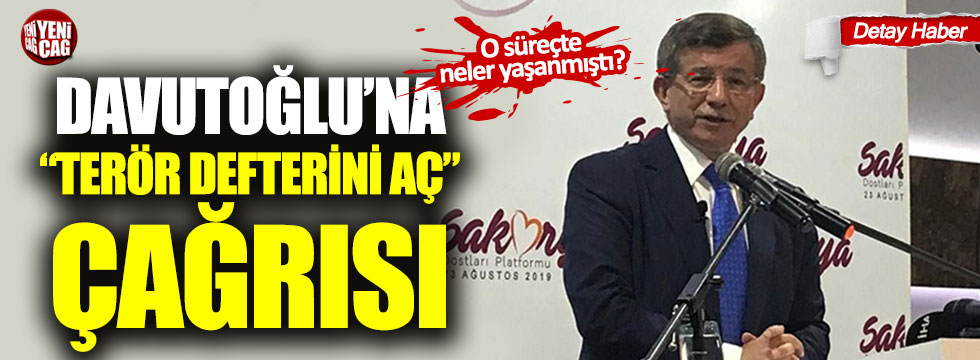 """Davutoğlu'na """"terör defterini aç"""" çağrısı!"""