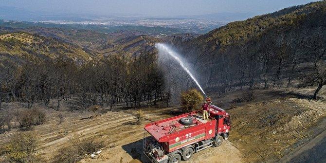 Yangın bitti 'nöbet' devam ediyor