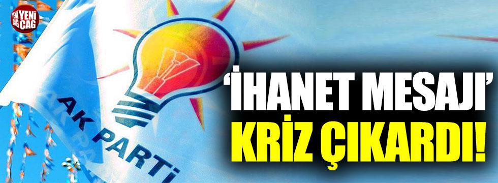 """AKP'li Başkan'ın danışmanından AKP'li vekillere """"ihanet"""" mesajı suçlaması"""