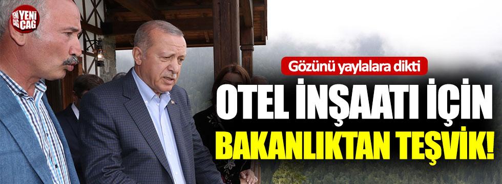 Erdoğan gözünü yaylalara dikti: Otel inşaatı için teşvik!