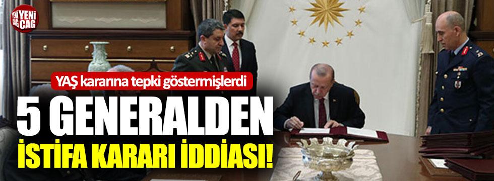 YAŞ kararına tepki gösteren generallerden istifa kararı
