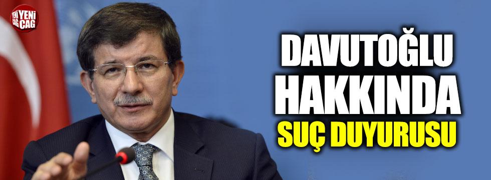 Davutoğlu hakkında suç duyurusu