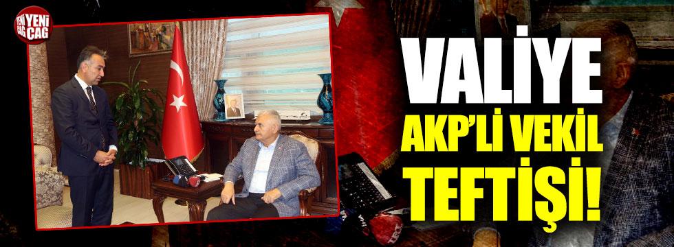 Binali Yıldırım'ın Bitlis Valisi'ni ziyaretinde dikkat çeken kare