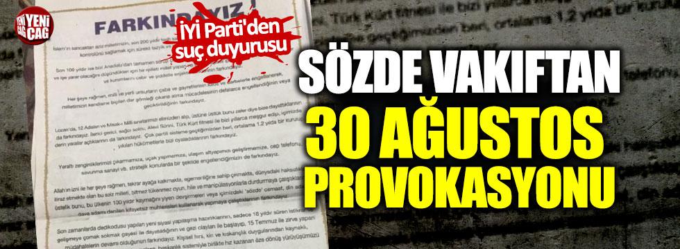 Birlik Vakfı'nın skandal ilanına İYİ Parti'den suç duyurusu