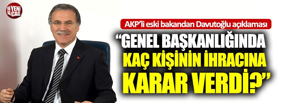AKP'li Mehmet Ali Şahin'den Davutoğlu açıklaması