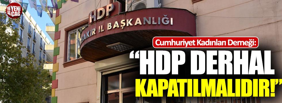 """Cumhuriyet Kadınları Derneği Başkanı Arıtman: """"HDP kapatılmalıdır"""""""