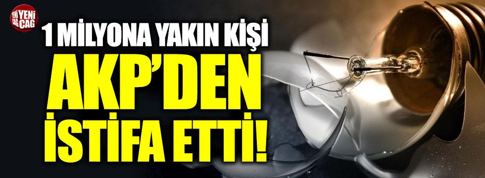 1 yılda yaklaşık 1 milyon kişi AKP'den istifa etti
