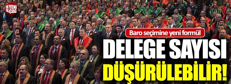 Baro seçimine yeni düzenleme: Delege sayısı düşürülebilir!