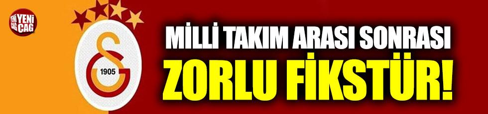 Galatasaray'ı zorlu fikstür bekliyor!