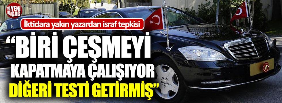 İktidara yakın yazardan AKP'ye israf tepkisi
