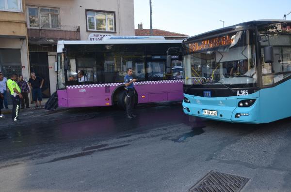 Kontrolden çıkan İETT otobüsü 5 araca çarptı!