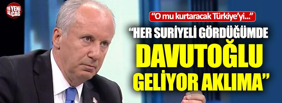 Muharrem İnce'den Davutoğlu açıklaması