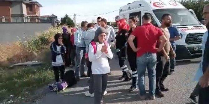 İstanbul'da öğrenci servisi takla attı!