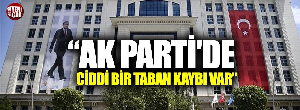 """""""AK Parti'de ciddi bir taban kaybı var"""""""