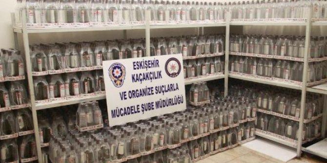 Eskişehir'de ele geçirildi: Tam 2 bin 208 şişe