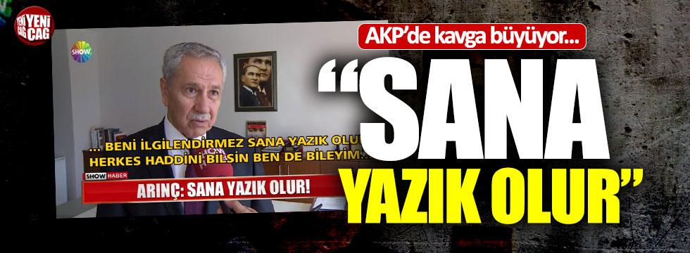 Bülent Arınç'tan AKP'li Turan'a sert cevap