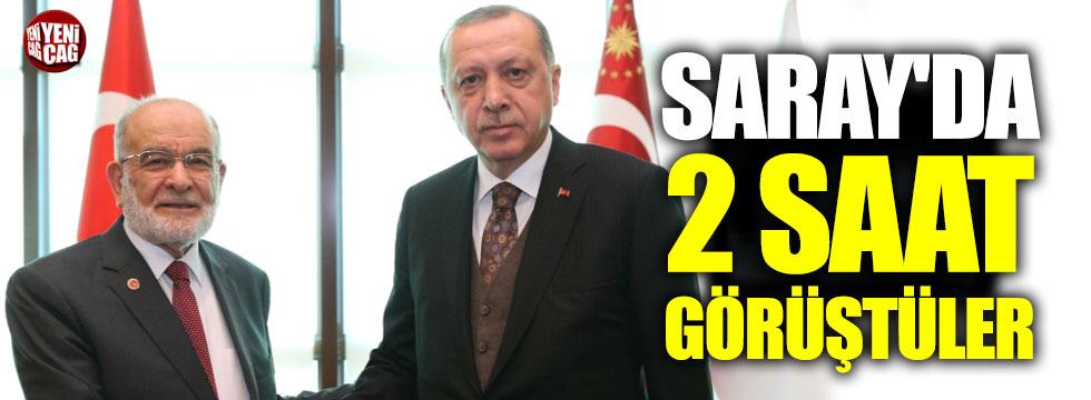 Erdoğan, Karamollaoğlu ile görüştü