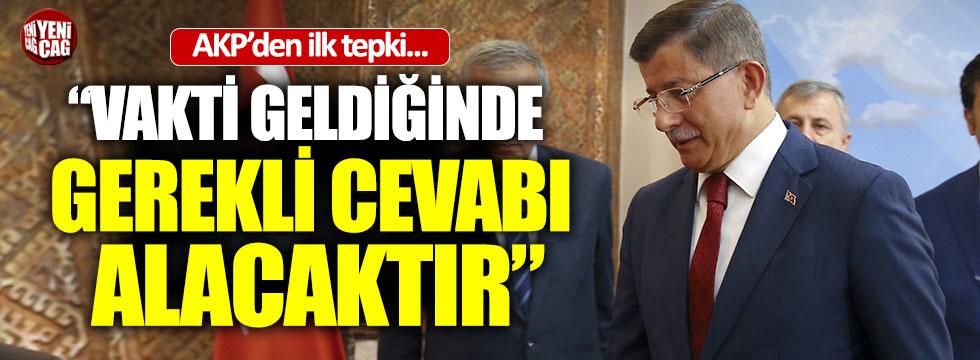 Davutoğlu istifasına AKP'den ilk tepki