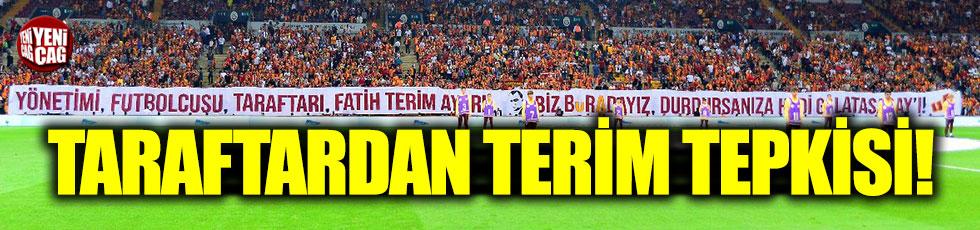 Galatasaray taraftarından TFF'ye pankartlı tepki
