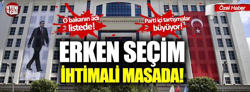 AKP'de erken seçim ihtimali masada