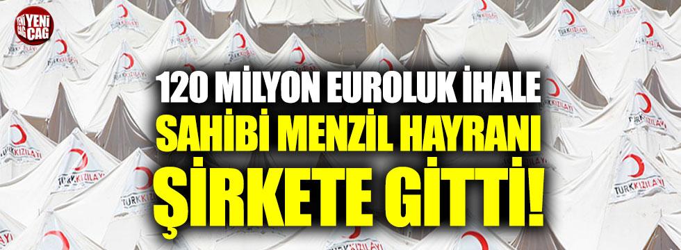 Kızılay, 120 milyonluk ihaleyi Menzil hayranı şirkete verdi!