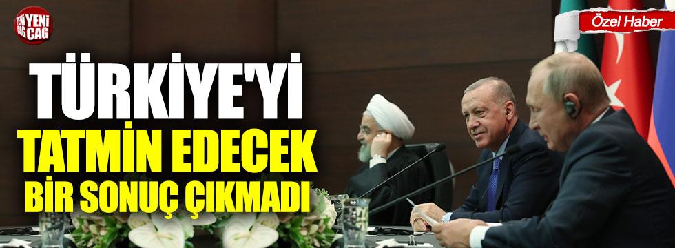 Türkiye'yi tatmin edecek bir sonuç çıkmadı