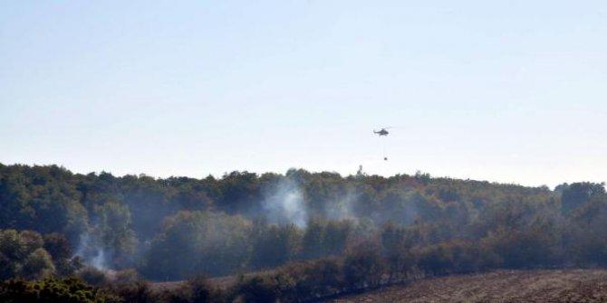 200 dönüm ormanlık arazi kül oldu