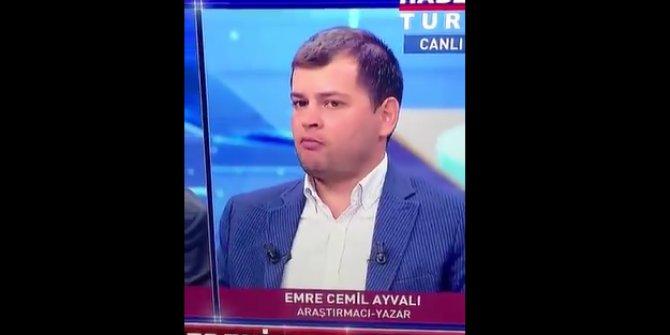 Emre Cemil Ayvalı, ağzında sakızla canlı yayına çıktı