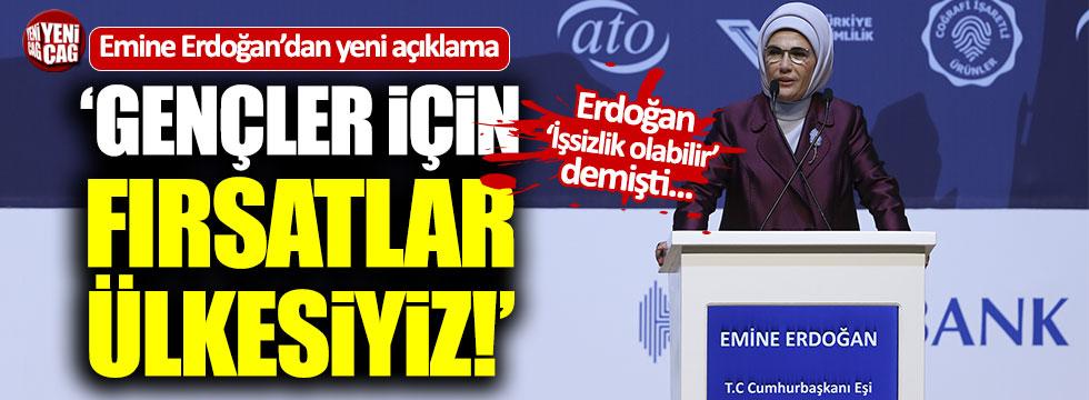 """Emine Erdoğan: """"Türkiye gençler için fırsatlar ülkesi"""""""