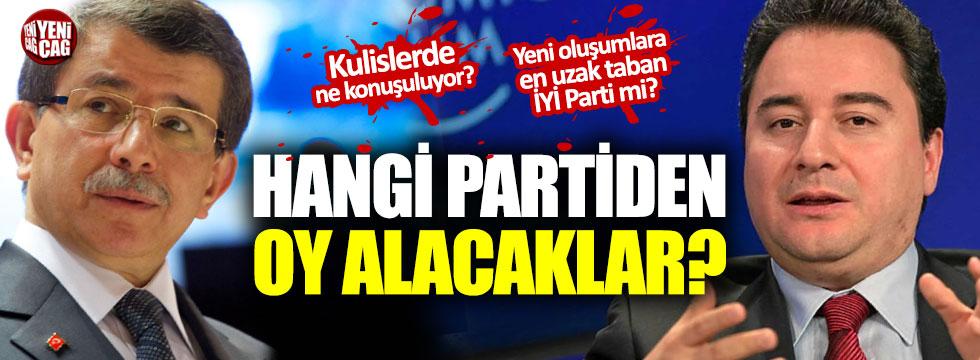 Davutoğlu ve Babacan hangi partiden oy alacak?