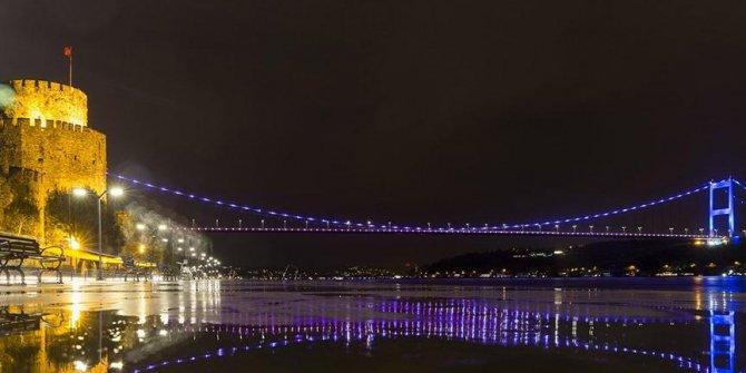 Köprüler baş ve boyun kanserine karşı renklendirildi