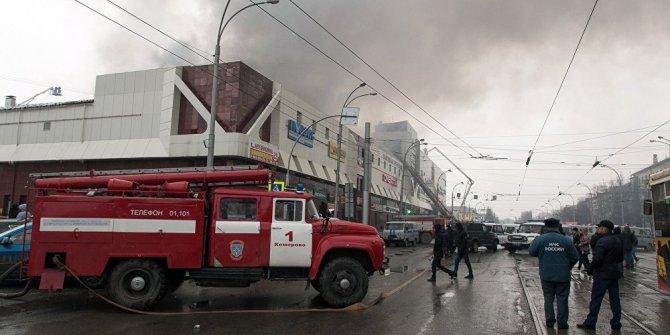 Rusya'da bir alışveriş merkezinde yangın