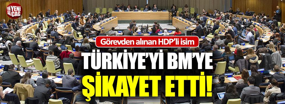 Görevden alınan HDP'li, Türkiye'yi BM'ye şikayet etti