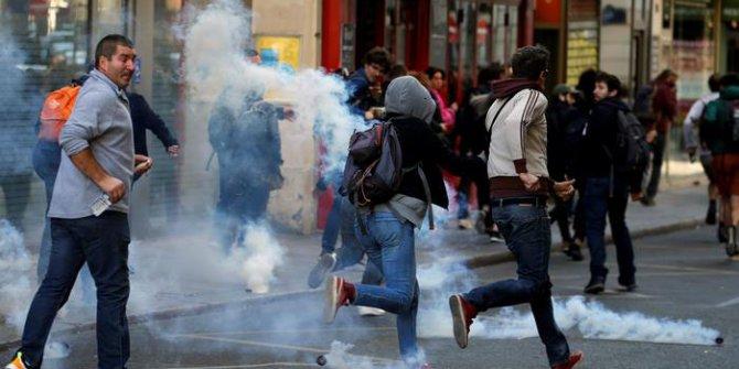 Fransa'da sokaklar yeniden kartıştı!