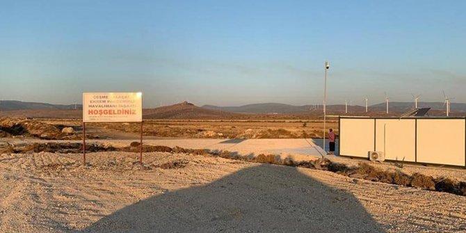 Çeşme-Alaçatı Havalimanı'ndan geriye 'Hoş geldiniz' tabelası kaldı