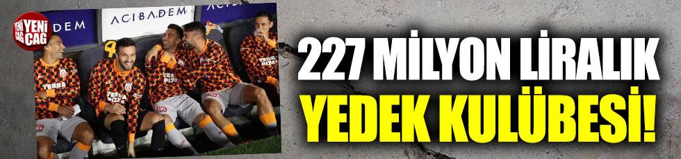 Galatasaray'da 227 milyon liralık yedek kulübesi!