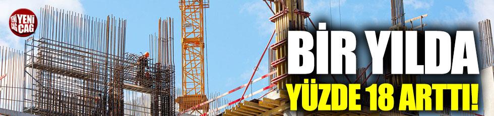 İnşaat maliyetleri bir yılda yüzde 18 arttı!