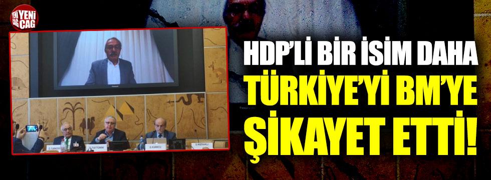 HDP'li bir isim daha Türkiye'yi BM'ye şikayet etti!