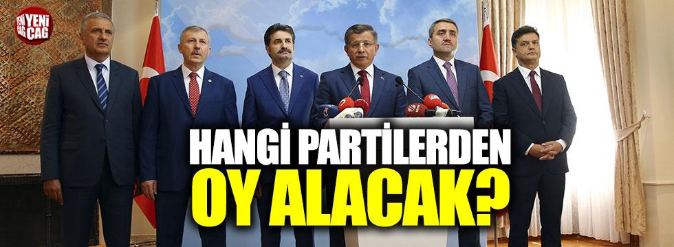 Davutoğlu hangi partilerden oy alacak?