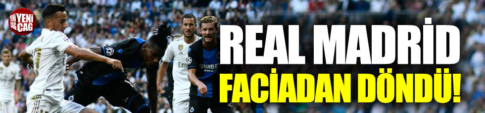 Real Madrid, Club Brugge'un elinden zor kurtuldu
