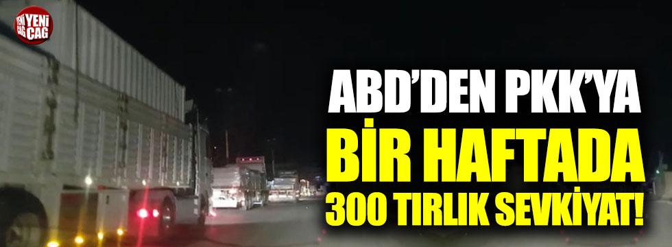 ABD'den YPG/PKK'ya bir haftada 300 tırlık sevkiyat