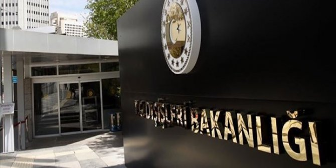 Dışişleri Bakanlığı'ndan, 'Bosna Hersek' açıklaması