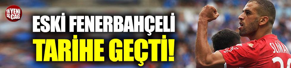 Eski Fenerbahçeli Slimani, Fransa'da tarihe geçti!