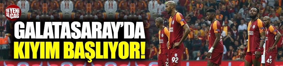 Galatasaray'da Fatih Terim kıyıma başlıyor