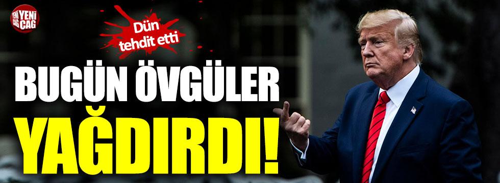 Dün Türkiye'yi tehdit eden Trump, bugün övgüler yağdırdı!