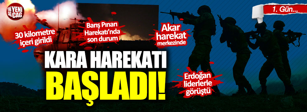 Barış Pınarı Harekatı başladı: Mehmetçik sınırı geçti